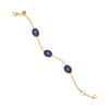 Blue Protection Triple JuJu Eye Bracelet in 24K Gold