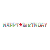 Rainbow Confetti Happy Birthday Banner