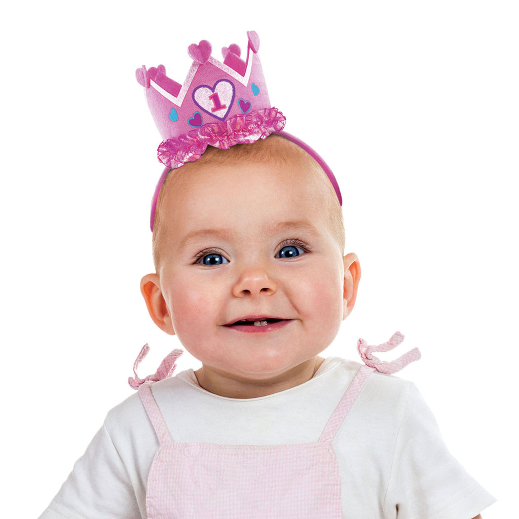 Girls 1st Birthday Headband