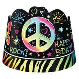 Neon Girl Birthday Paper Tiara Party Favors