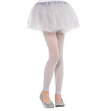 Footless Child Costume Silver Tights