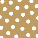 Gold Dots Party Luncheon Napkins
