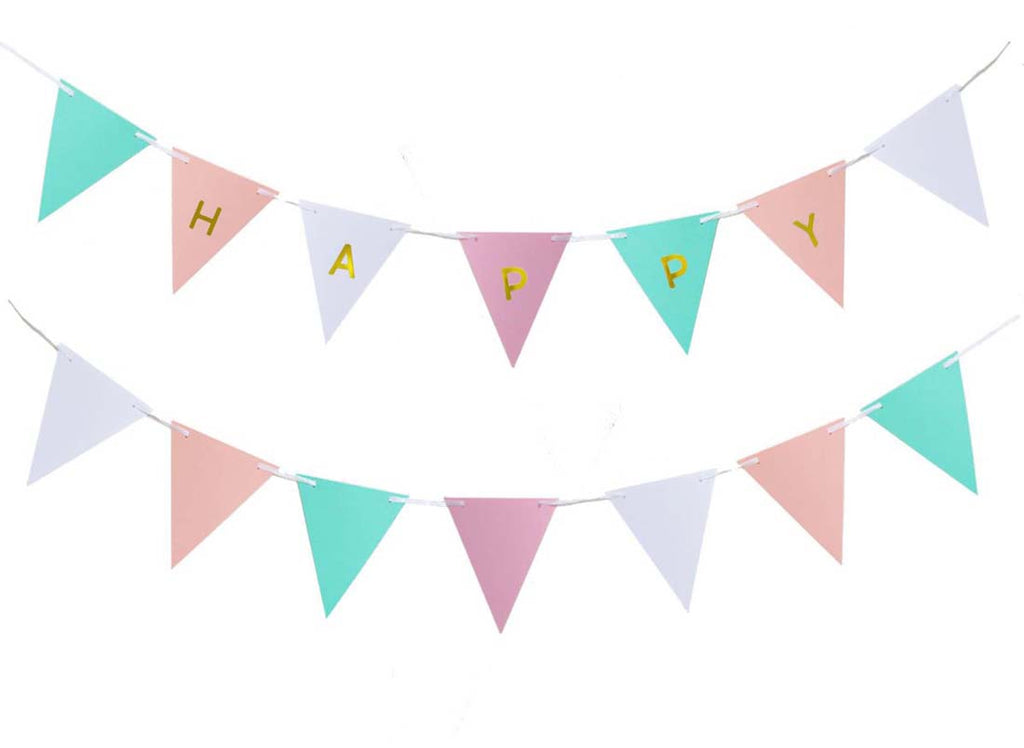 Pastel Color Theme Party Pennant Banner