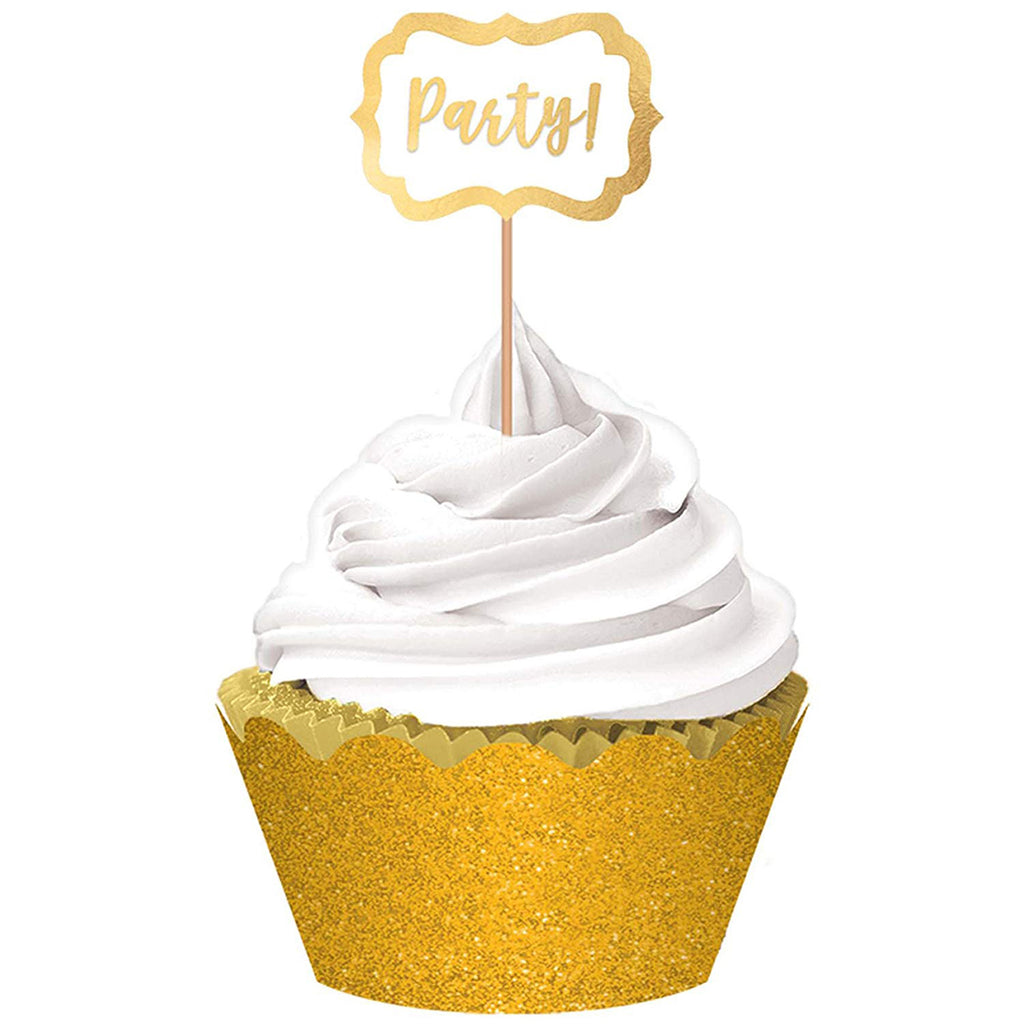 Gold Cup Cake Party Glitter Kit