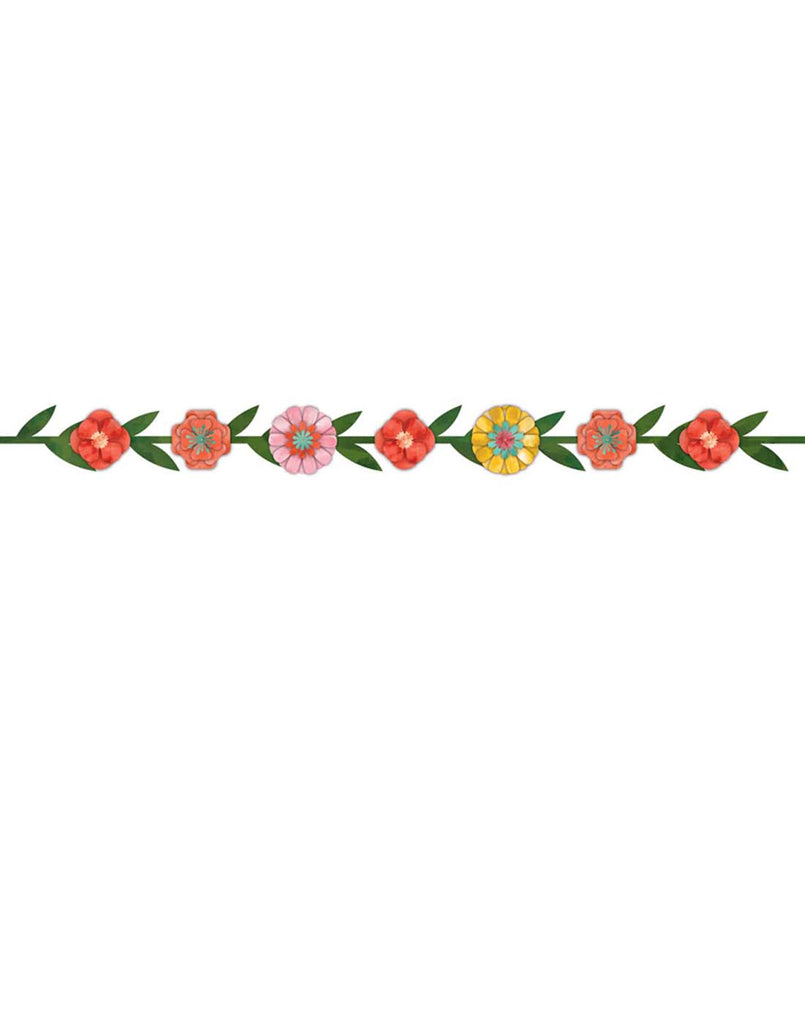 Bright Flowers Party Garland Kit