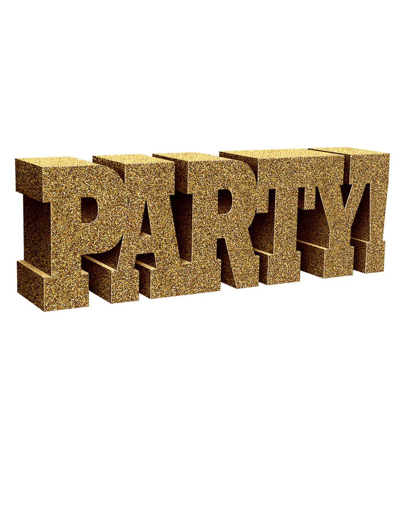 Party Foam Gold Glitter Standing Sign