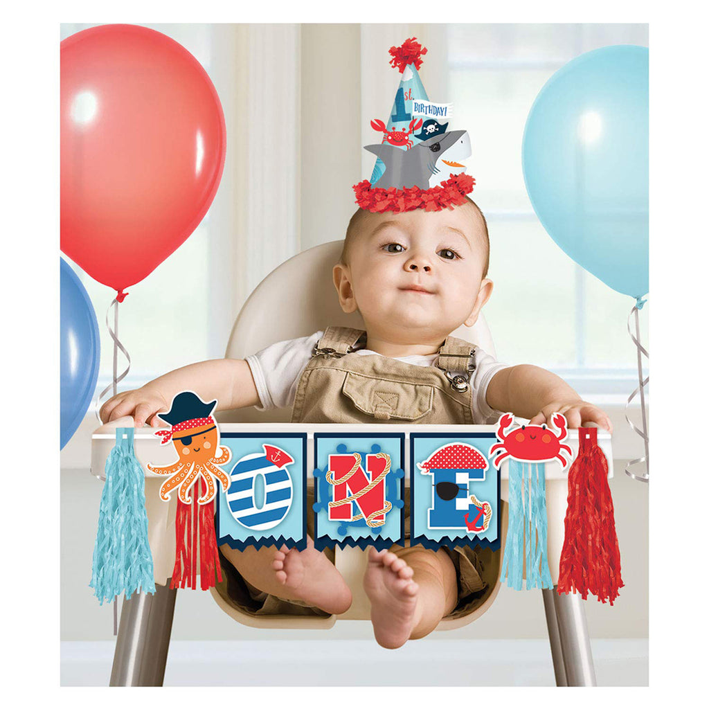 Ahoy Pirate Birthday High Chair Decorating Kit