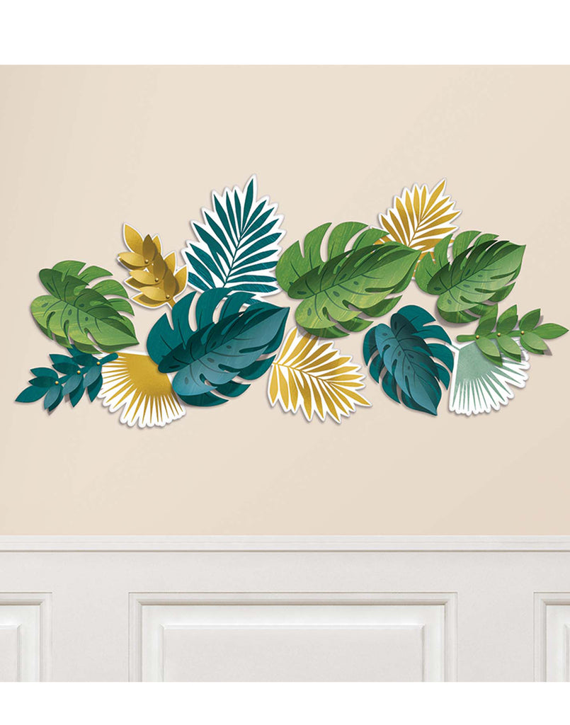 Key West Tropical Leaves Wall Cutout Set
