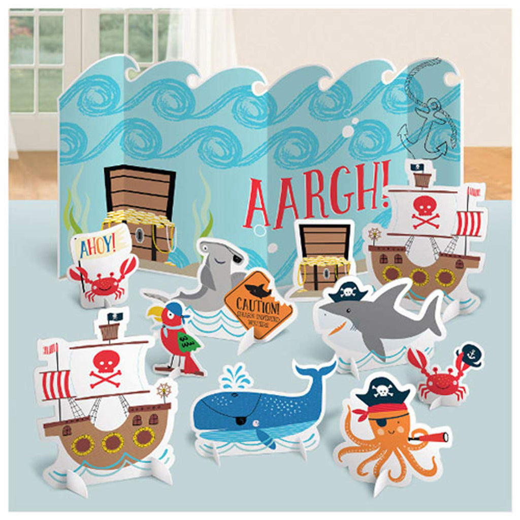 Ahoy Pirate Birthday Table Centerpiece Set