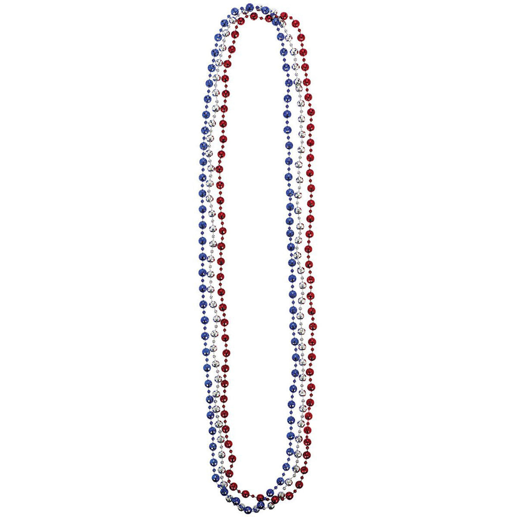 Disco Ball Red Blue Silver Necklace 3 Pack