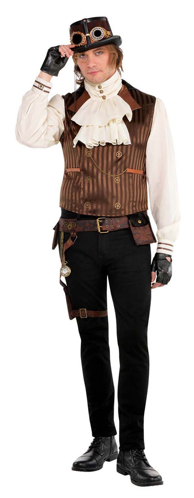 Steampunk Adult Shirt Vest Set