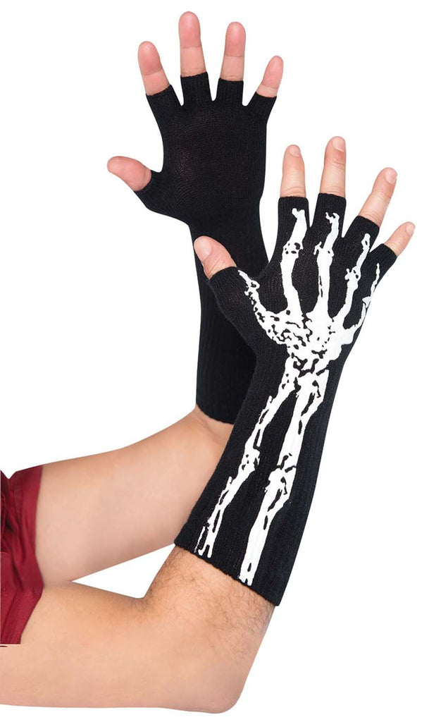 c555420325a Fingerless Skeleton Adult Gloves Costume Accessory – Costume Zoo