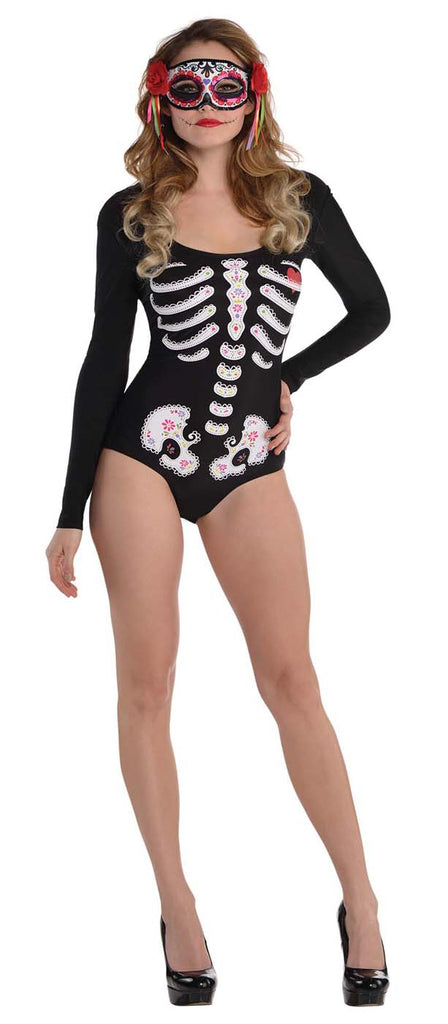 Day Of The Dead Adult Bodysuit