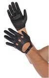 Faux Leather Adult Black Gloves