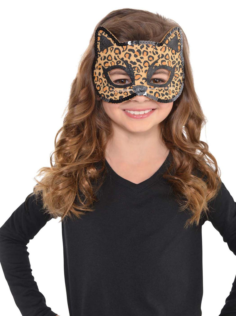 Leopard Cat Child Felt Mask