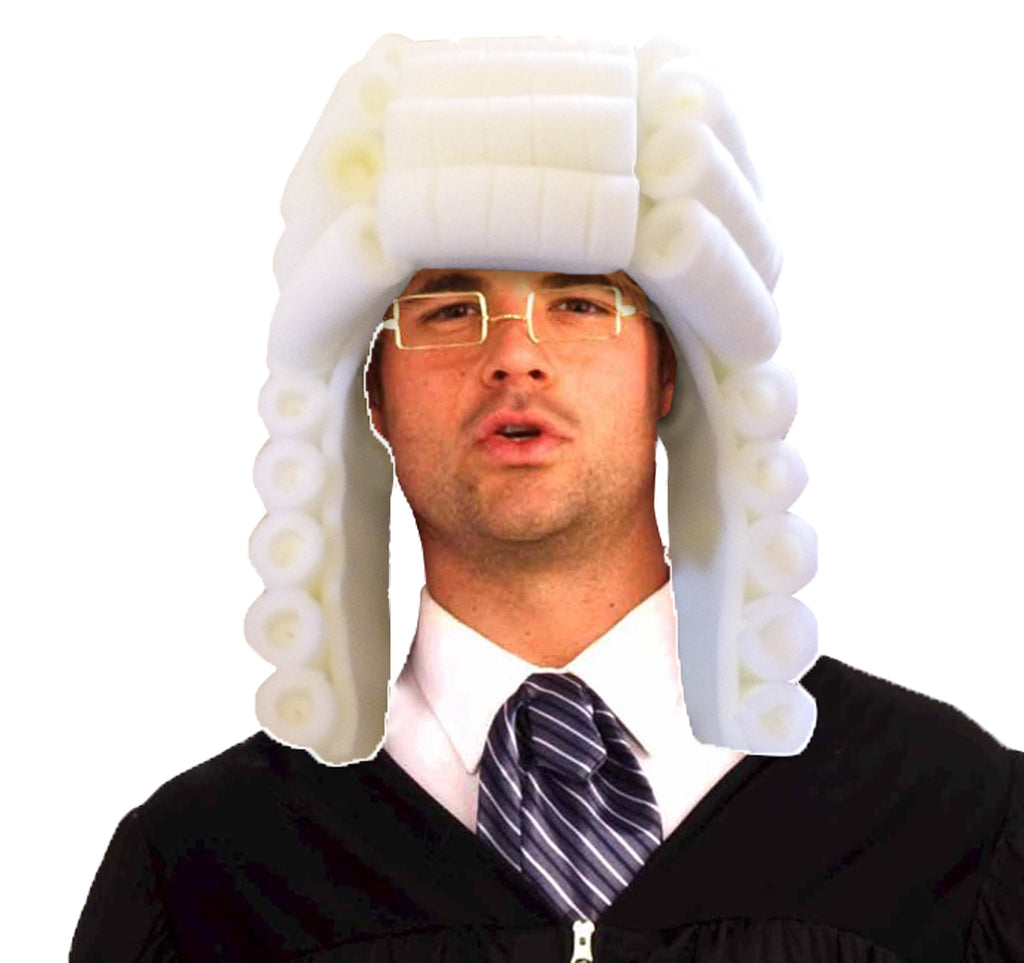 Judge Adult Foam Wig