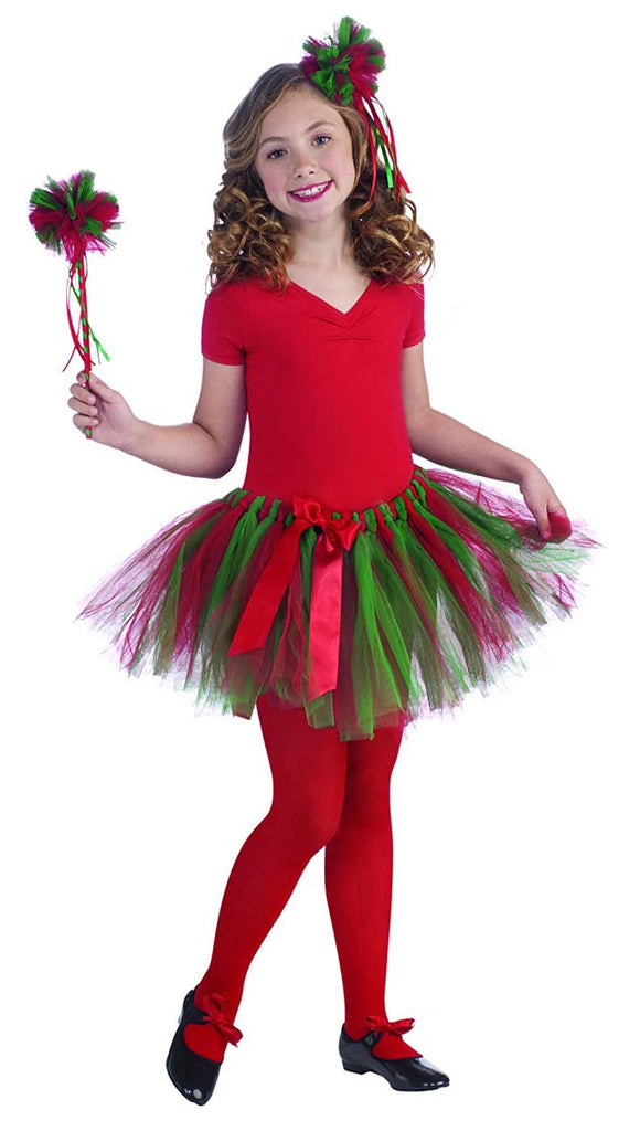 Red Green Child Christmas Tutu