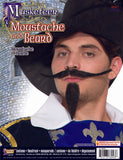 Beard Moustache Adult Musketeer Set