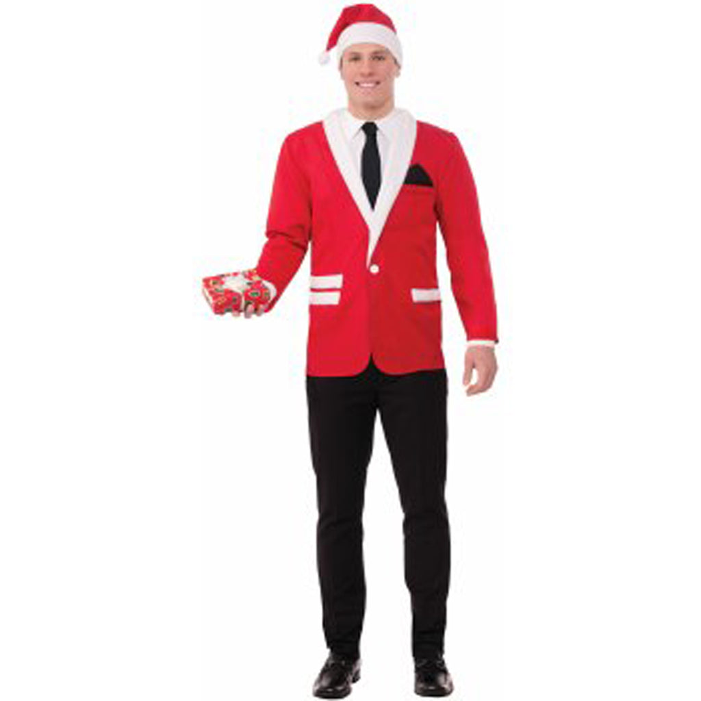 Simply Suited Adult Santa Jacket Hat Costume Set