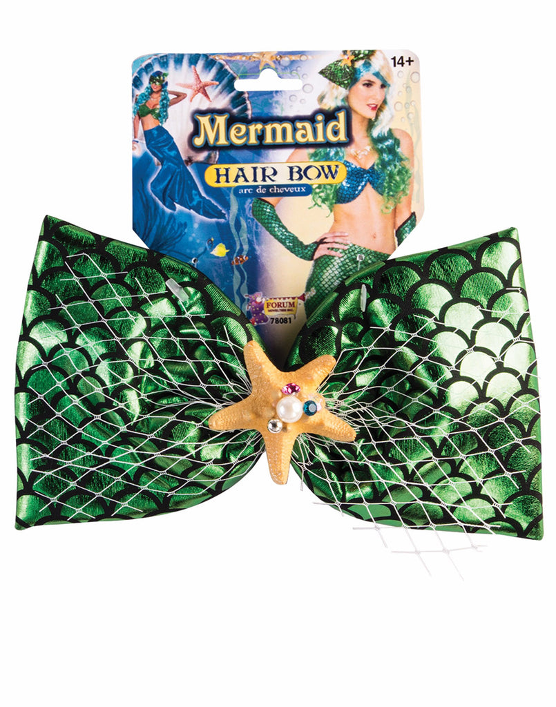 Mermaid Green Hair Bow