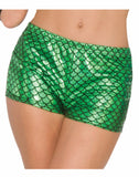Mermaid Green Adult Booty Shorts