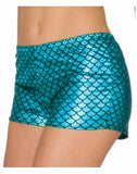 Mermaid Blue Adult Booty Shorts