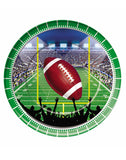 Football Party 9 Inch Round Plates