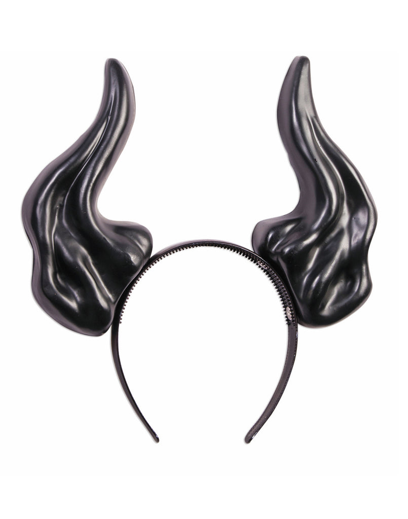 Demon Horns Adult Black Costume Headband