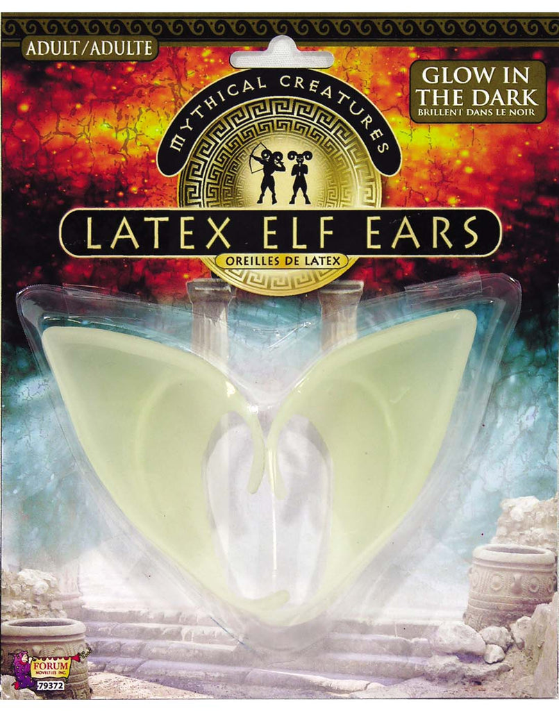 Glow In The Dark Latex Adult Elf Ears
