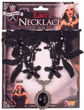 Dark Royalty Black Lace Necklace