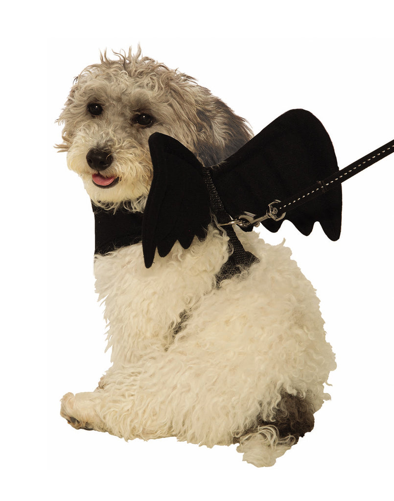 Black Bat Wing Harness Pet Costume