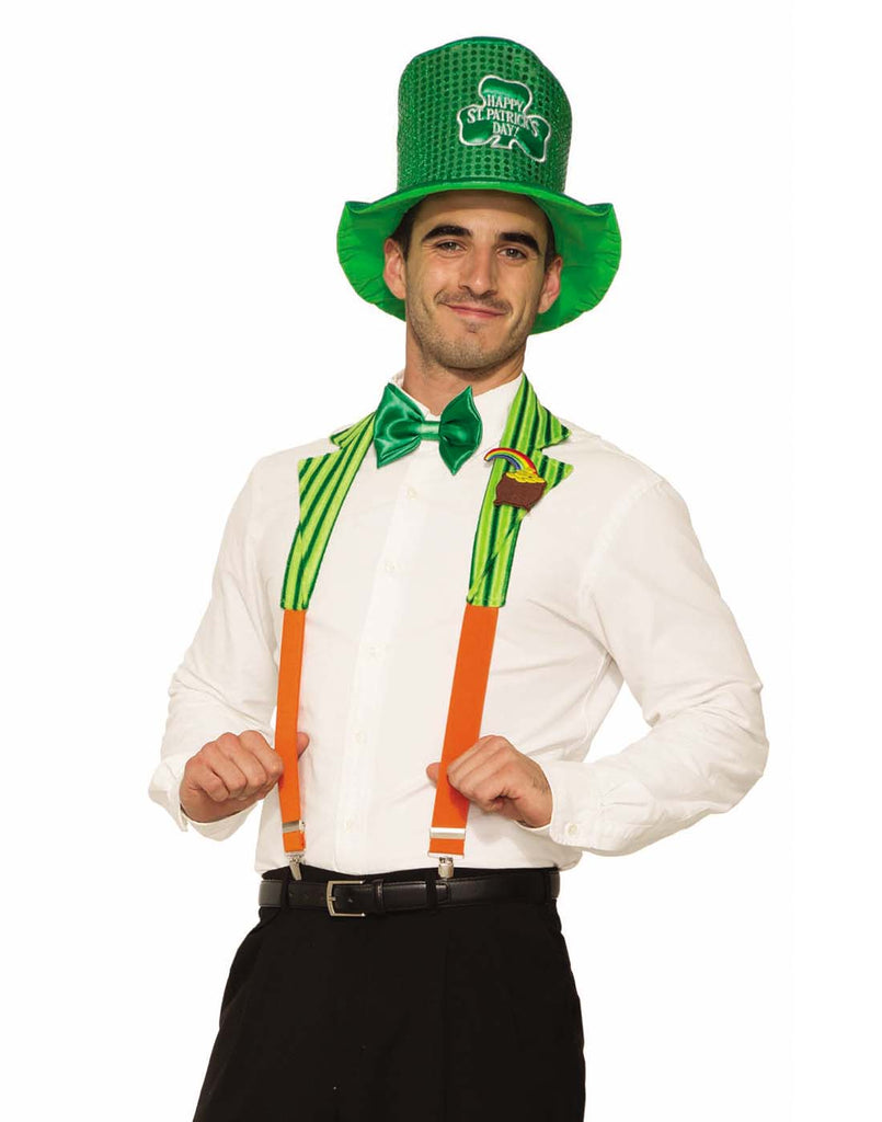 St Patrick Adult Collar And Suspenders Set