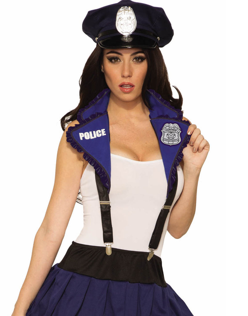 Police Adult Collar And Suspender Set