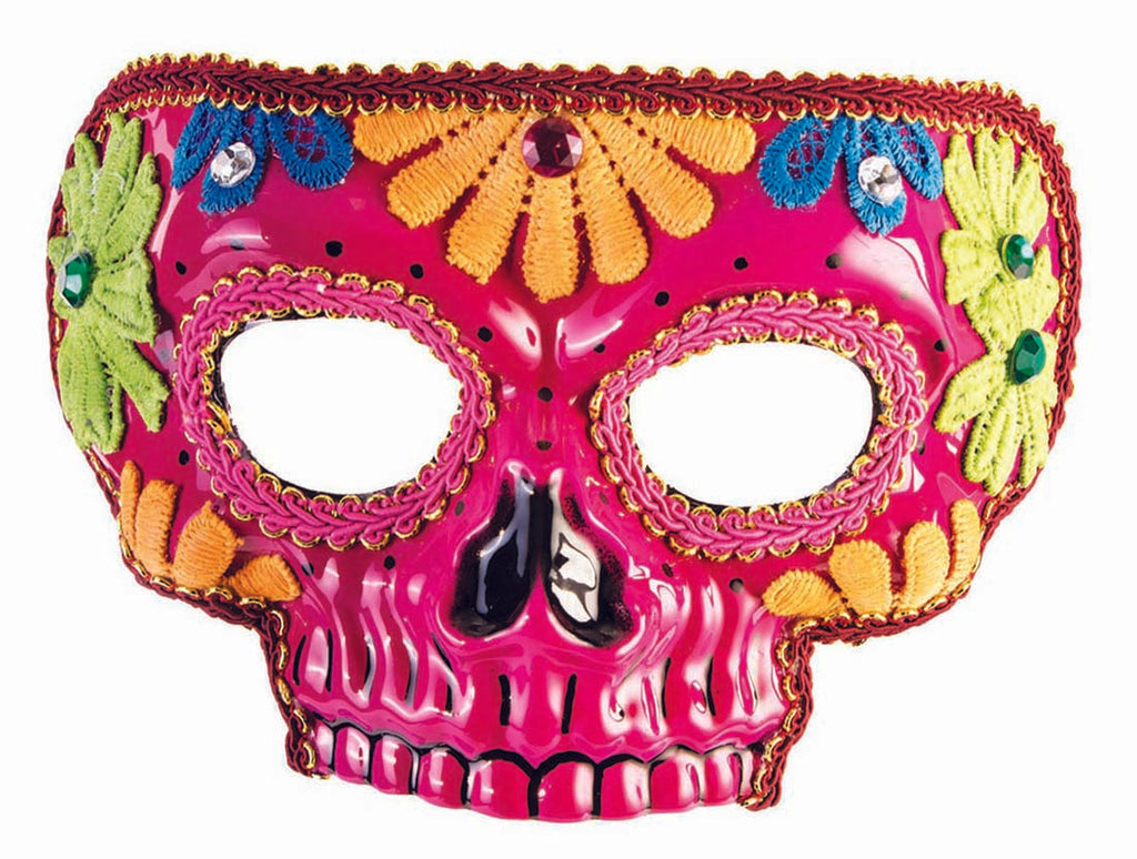 Day Of The Dead Pink Adult Mask