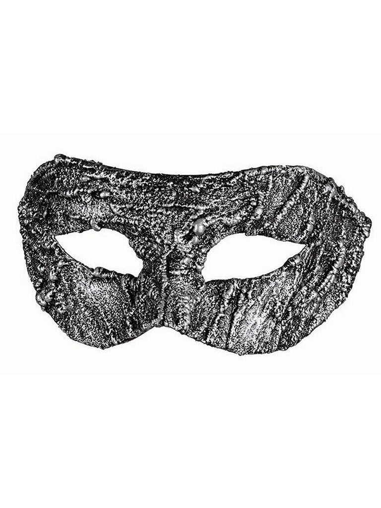 Textured Silver Adult Eye Mask