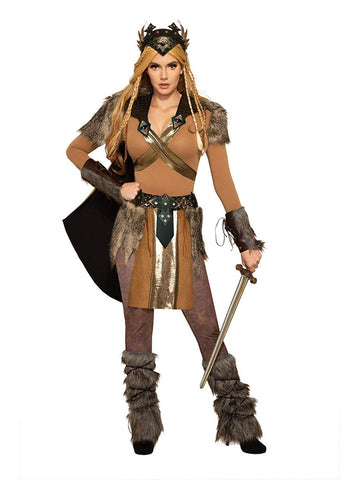 Valkyrie Womens Warrior Cape With Shoulder Pads