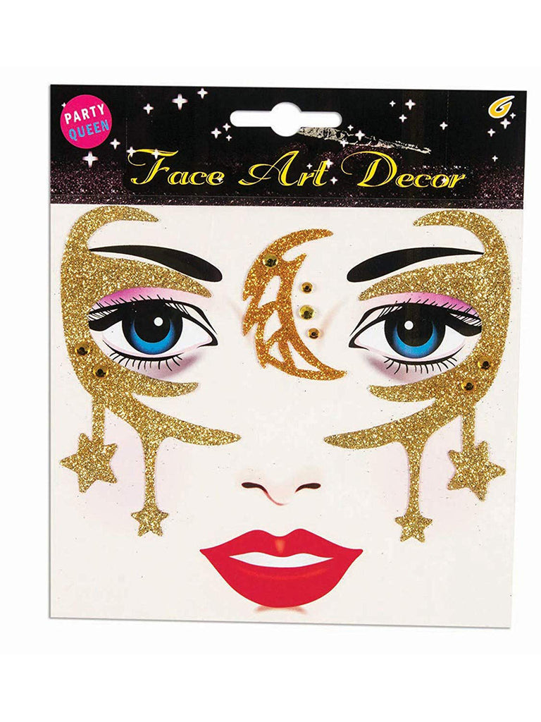 Gold Fantasy Face Stickers