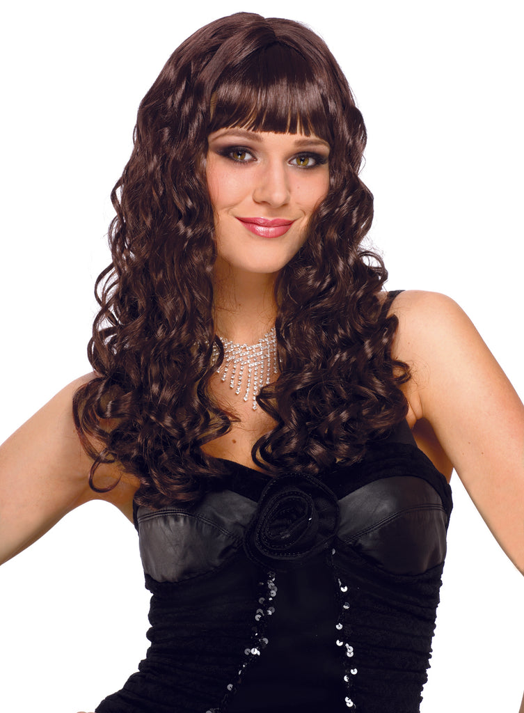 Eve Adult Brown Curly Costume Wig