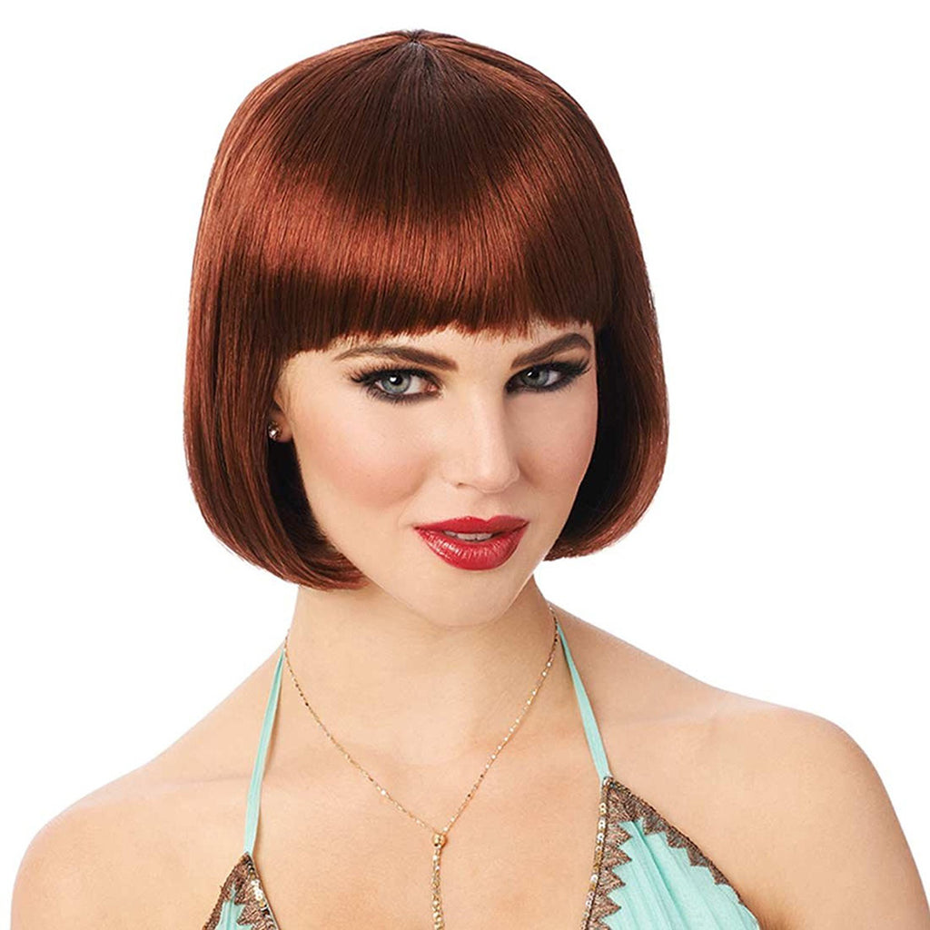 Short Straight Flapper Bob Womens 20's Costume Wig