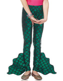 Mermaid Pants Green Fin Child Leggings