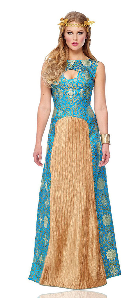 Noble Lady Womens Blue Dress Halloween Costume
