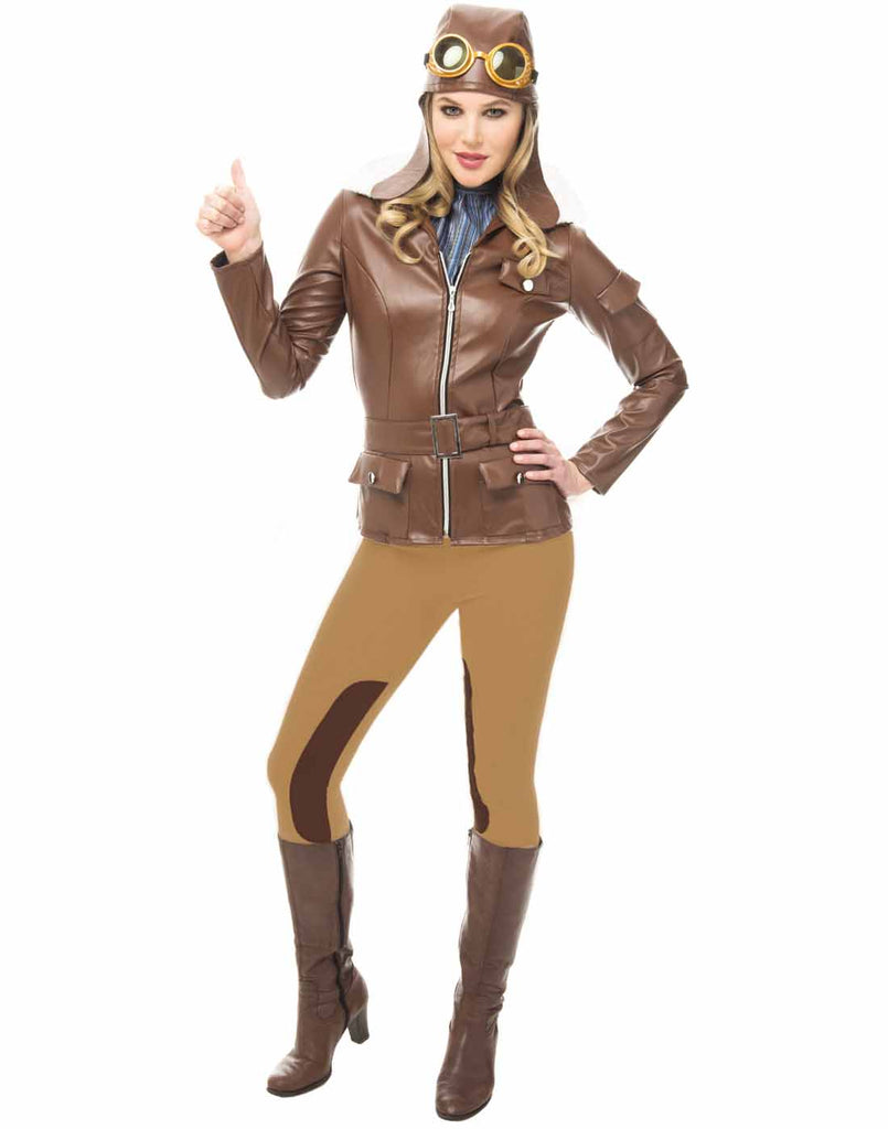 Lady Lindy Womens Pilot Halloween Costume