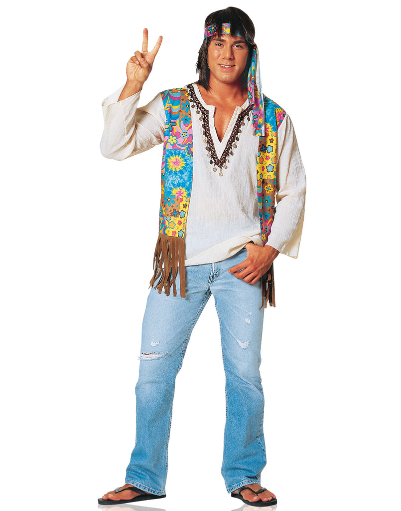 Hippie Dude 70s Adult Costume ...  sc 1 st  Costume Zoo : hippie halloween costume  - Germanpascual.Com
