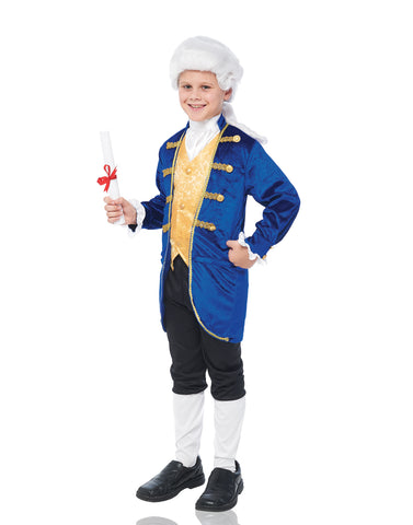 Colonial Boy Childs White Wig