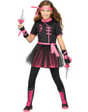 Ninja Miss Girly Child Warrior Halloween Costume