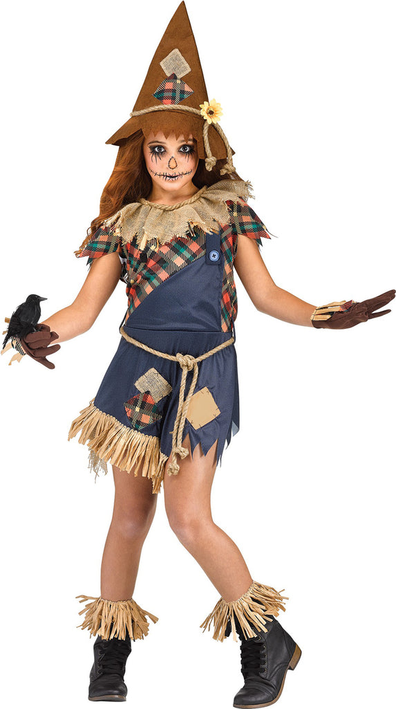 Scary Crow Girls Evil Scarecrow Costume