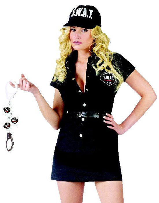 Black S.W.A.T. Police Officer Costume
