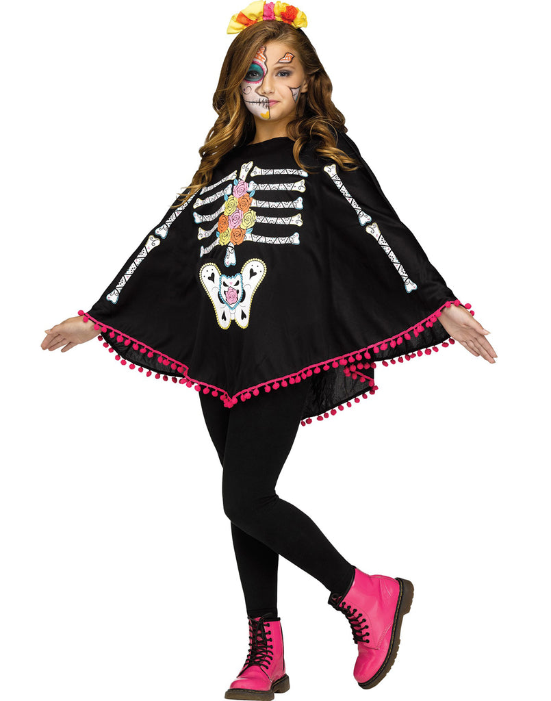 Day Of The Dead Childs Poncho