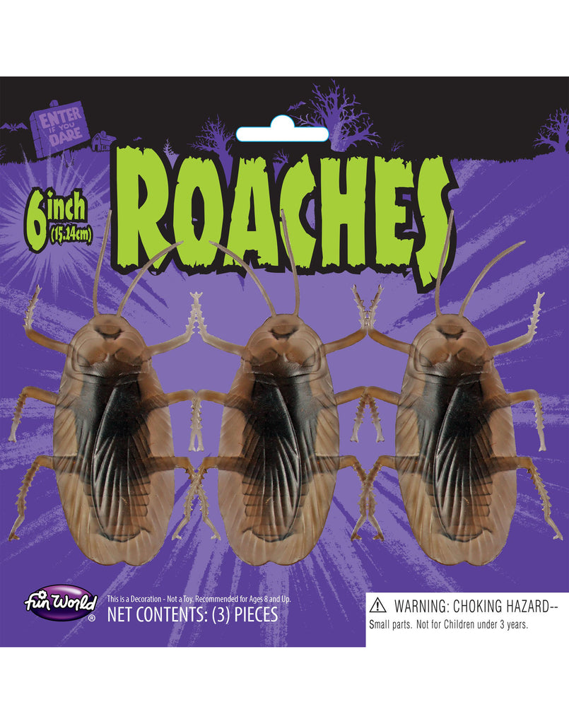 "6"" Roaches 3 Piece Tied on Card"