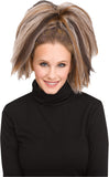 Brown Blonde Crimped Womens Costume Hair Piece